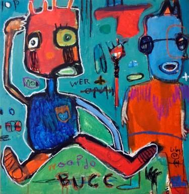 Peinture Afrique, acrylique, expressionnisme, œuvre d'art par Liby Lougue